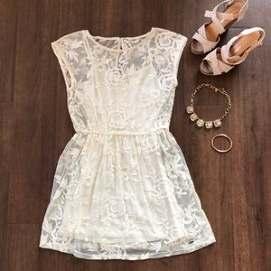 NWT Hollister sheer lace overlay two piece dress S